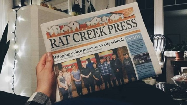 The Rat Creek Press (RCP) serves seven communities in north central Edmonton: Alberta Avenue, Delton, Eastwood, Elmwood Park, Parkdale, Cromdale, Spruce Avenue and Westwood.