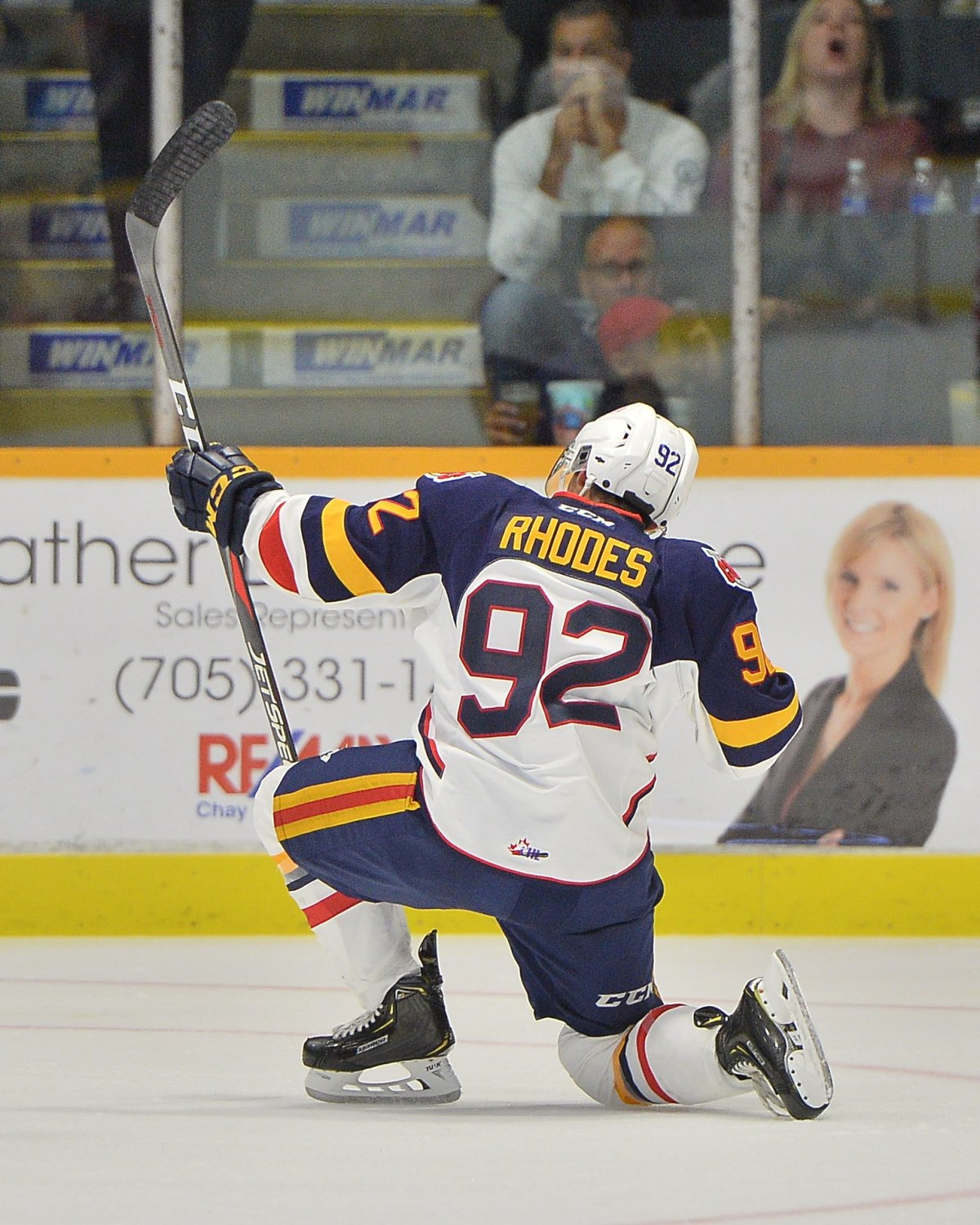 Sam Rhodes of the Barrie Colts.