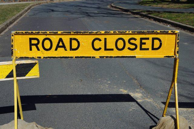 A watermain break has closed lanes along a portion of Mohawk Road.