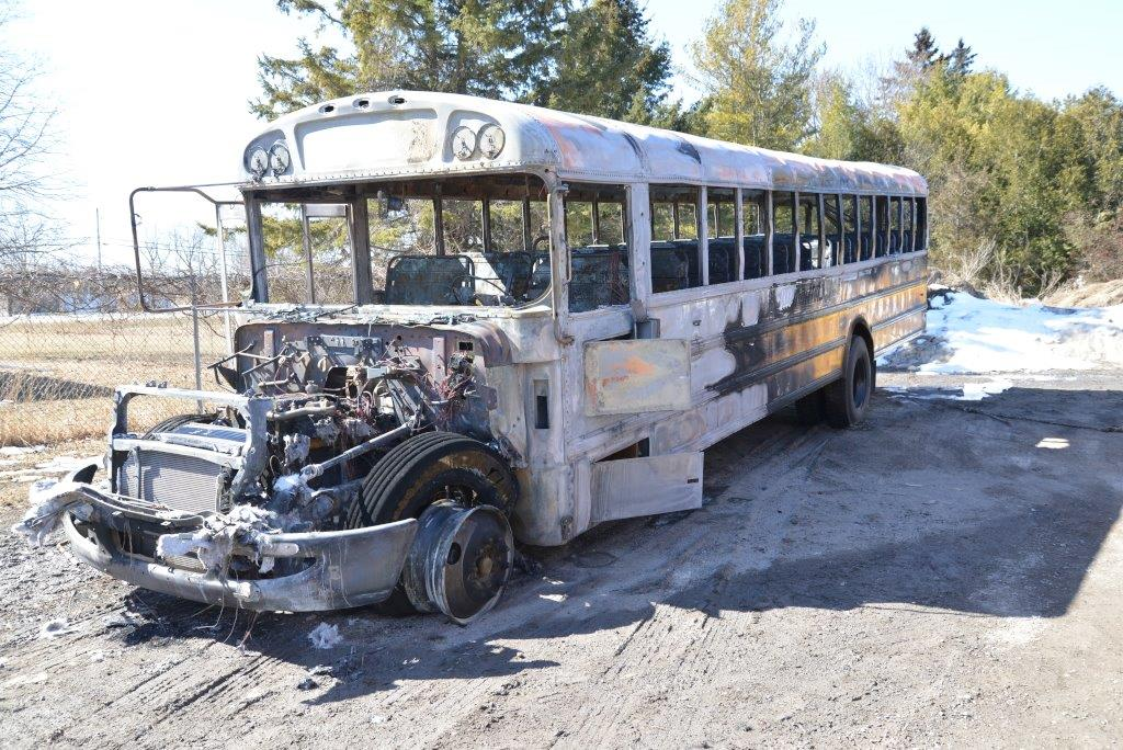 OPP say six teens were involved in burning a school bus at Fairfield Elementary School in Amherstview.