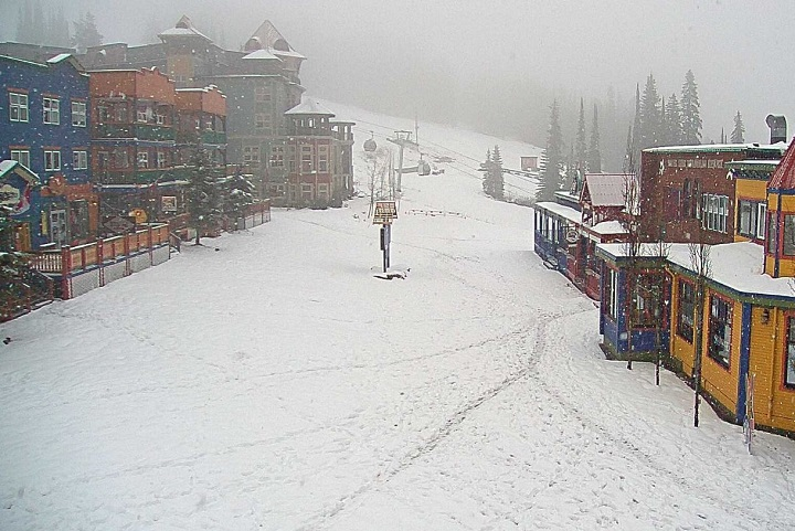 Silver Star Resort near Vernon was reporting six centimetres of new snow on Thursday.