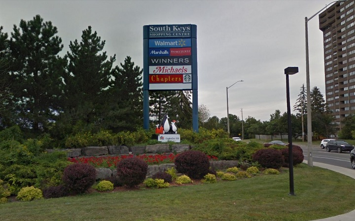 An exterior sign for the South Keys Shopping Centre.