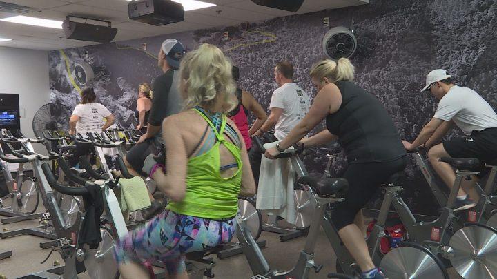 Calgary's Spin4Kids fundraiser at GoodLife FitnessCanyon Meadows on Saturday.