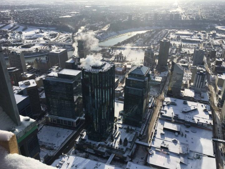 A view of Manulife Place from Edmonton's Stantec Tower on Nov. 16, 2018.