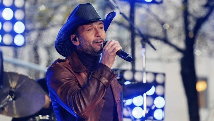 """Tim McGraw performs on NBC's """"Today"""" show at Rockefeller Plaza in New York on Nov. 17, 2017."""