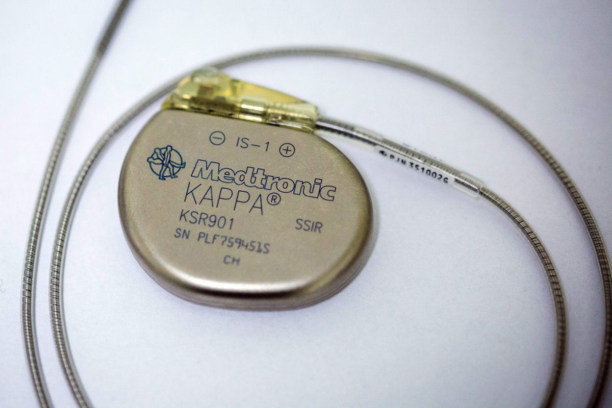 A picture made available on 22 January 2016 shows the traditional artificial cardiac pacemaker at the University Hospital of Lord's Transfiguration in Poznan, Poland, 21 January 2016.