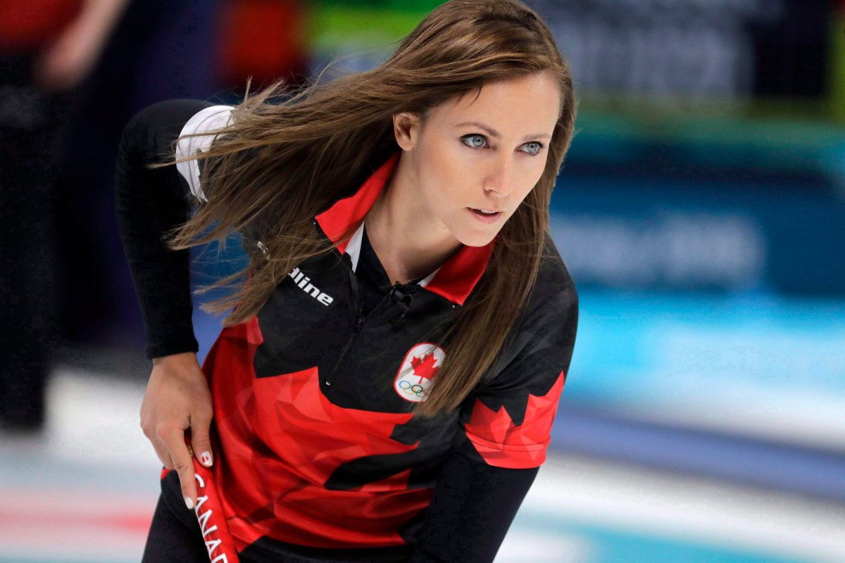 Canada's skip Rachel Homan during the women's curling match against Britain at the 2018 Winter Olympics in Gangneung, South Korea, Wednesday, Feb. 21, 2018.