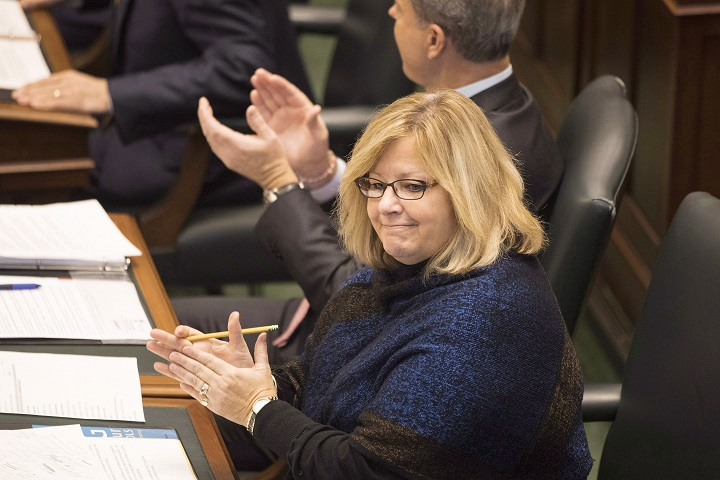 Ontario Education Minister Lisa Thompson attends Question Period at Queens Park, in Toronto on Monday, Nov. 19, 2018.