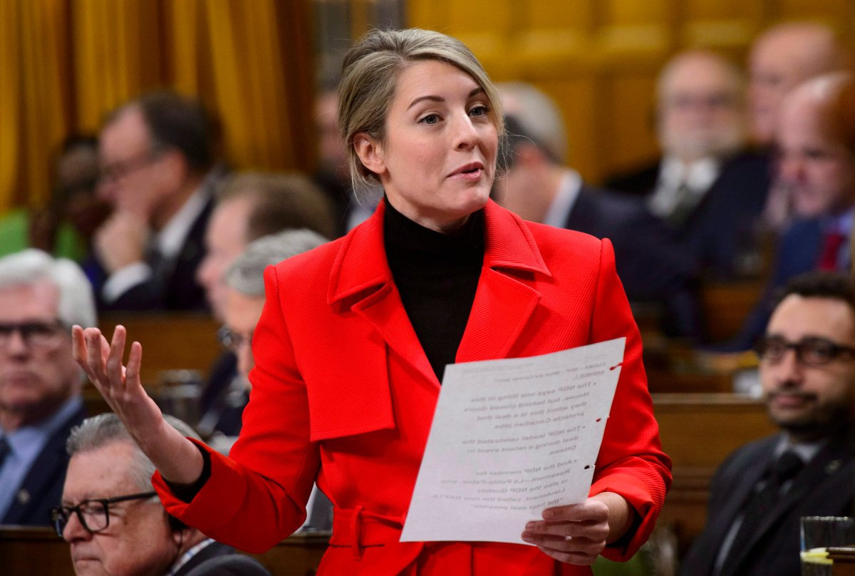 Melanie Joly says the parliamentary process is too slow to respond to the new coronavirus pandemic.