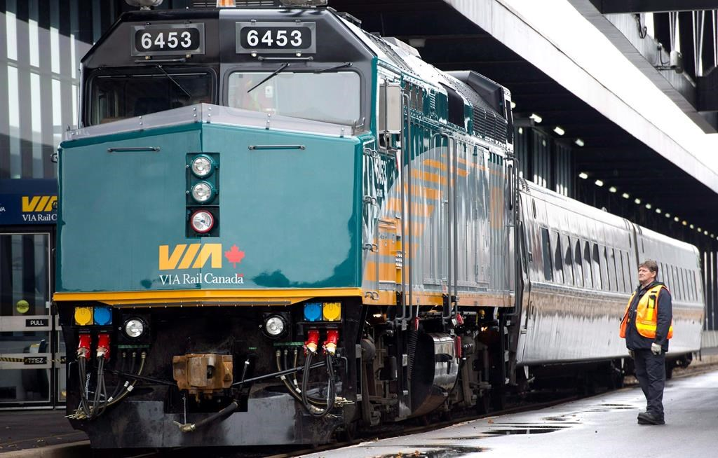 The Canadian rail company requires 32 new trains to maintain its current capacity of 9,100 seats. The equipment must be able to run on electricity once that is installed along the route.