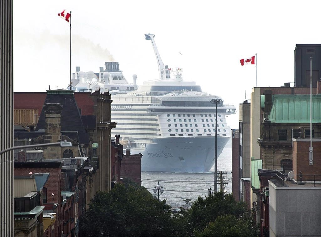 The cruise ship MS Anthem of the Seas, operated by Royal Caribbean International, arrives in Saint John, N.B., on Tuesday, Sept. 5, 2017.