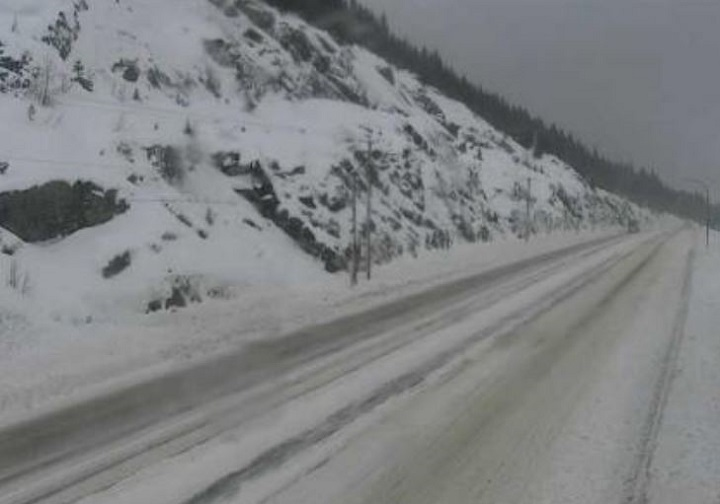 DriveBC has issued several warnings for highway conditions throughout the province following Thursday's Pacific storm that crashed into the coast, then trekked inland.