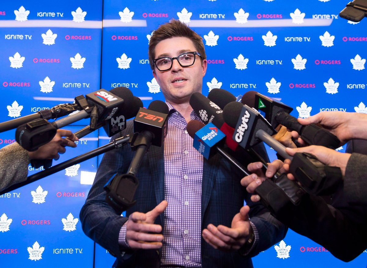 Toronto Maple Leafs general manager Kyle Dubas says he is not worried about dealing with competing offer sheets for star players Auston Matthews and Mitch Marner.