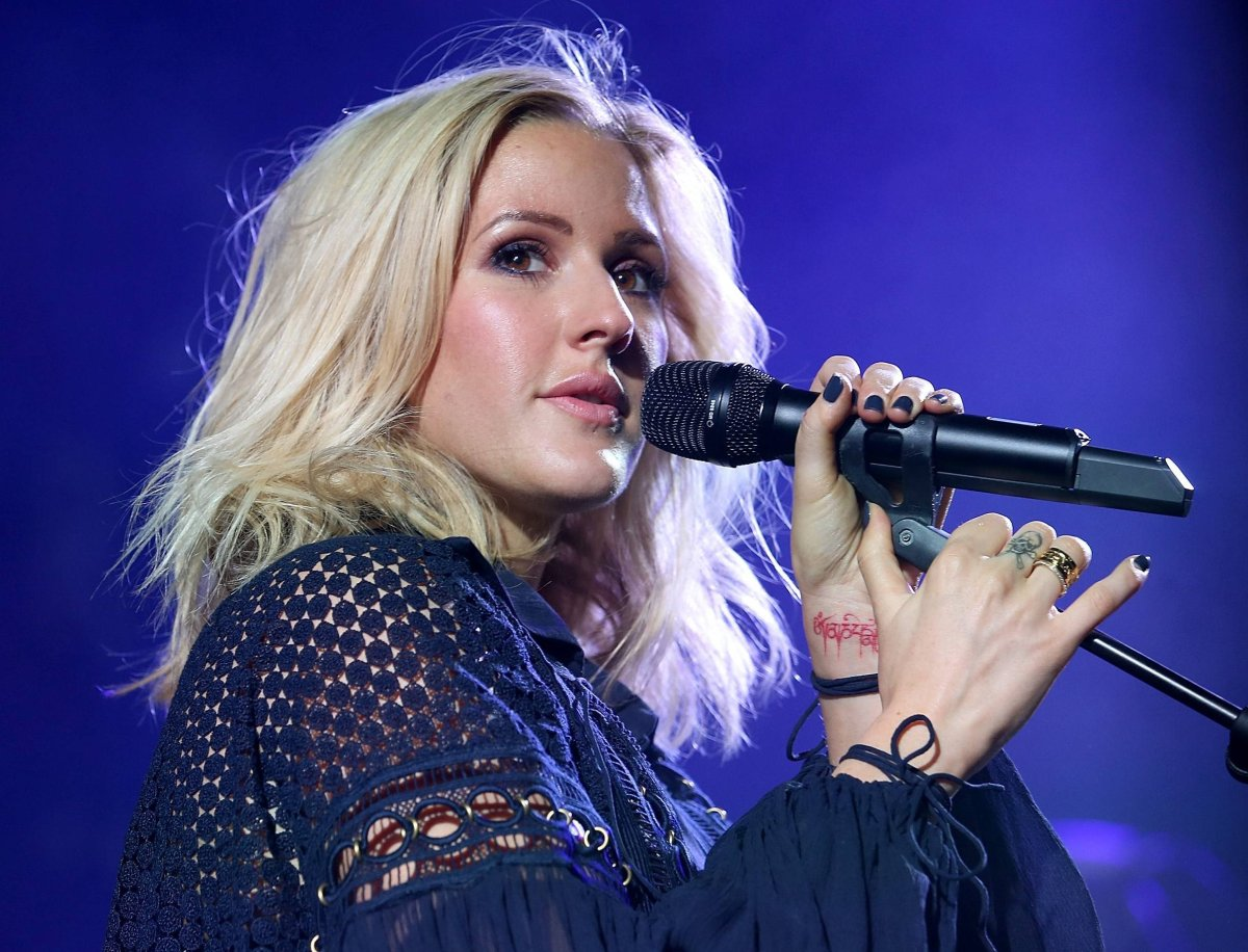 Ellie Goulding performs at the celebration of Marriott International's and Universal Music Group's global marketing partnership at the St Pancras Renaissance Hotel on June 30, 2015 in London, England.
