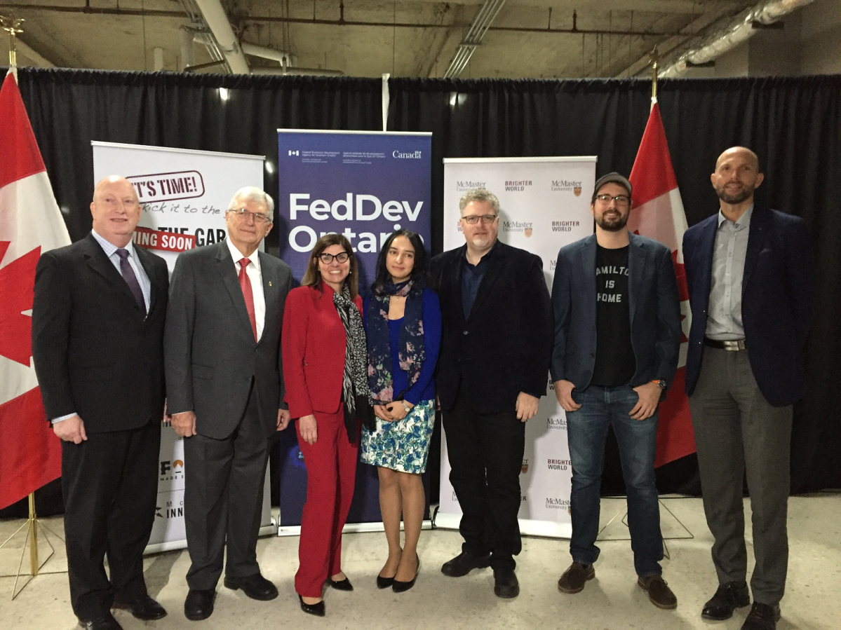 Hamilton West-Ancaster-Dundas MP Filomena Tassi announced that $1.2 million will be given to McMaster University's start-up incubator to expand into the empty parking garage at McMaster Innovation Park.