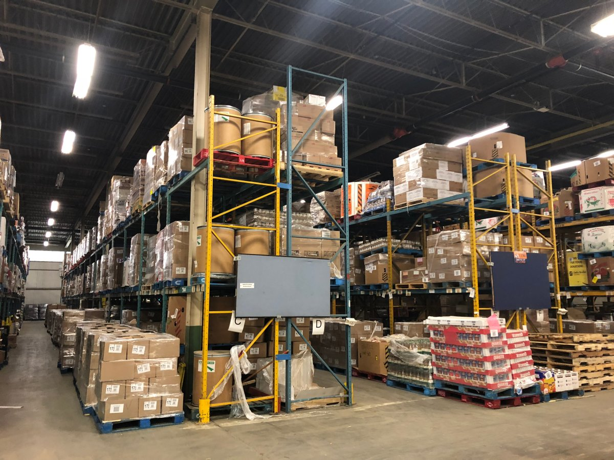 The Daily Bread Food Bank warehouse in Toronto, Dec. 28, 2018.