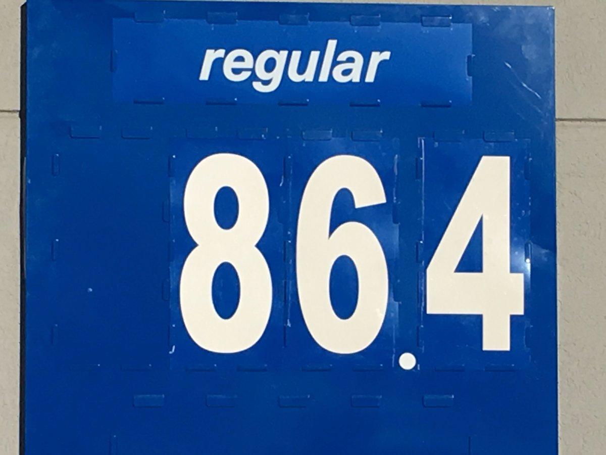 Gas prices in Winnipeg.