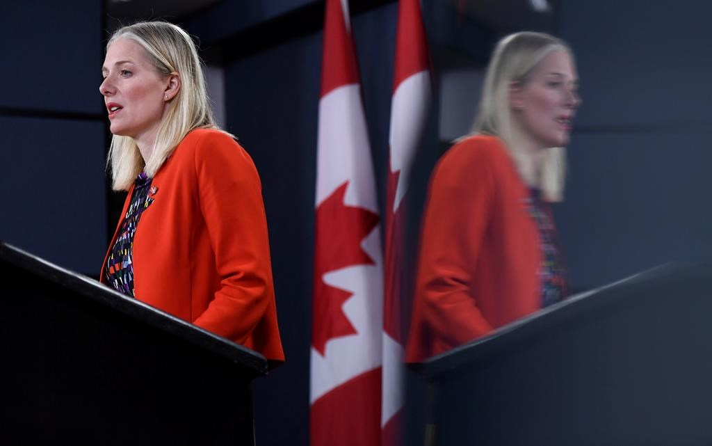 Minister of Environment and Climate Change Catherine McKenna called on federal politicians to vote to declare a climate emergency ahead of the Monday night vote.