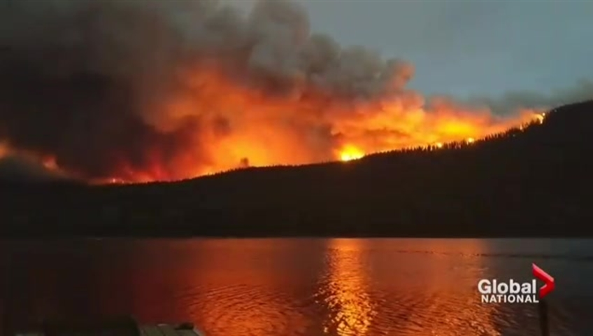Wildfires raged around B.C. during the hot summer months of 2018.