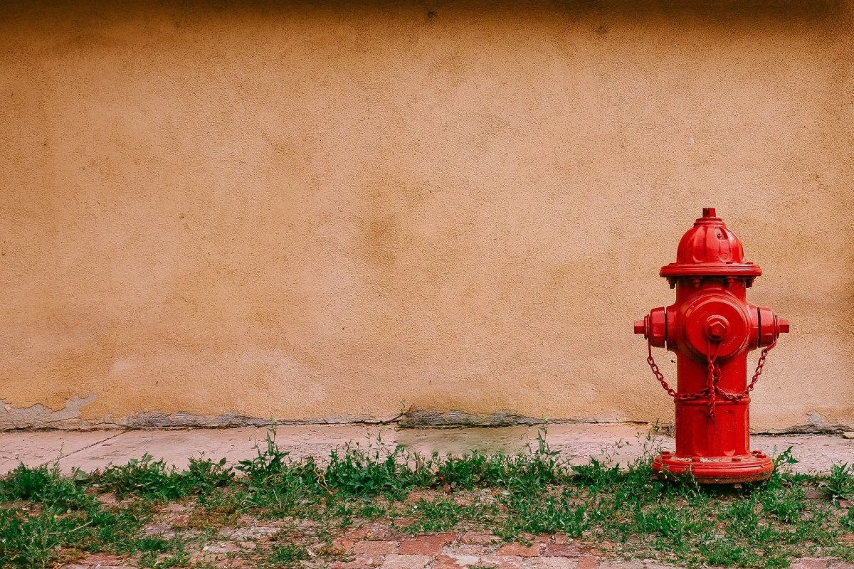 A fire hydrant.