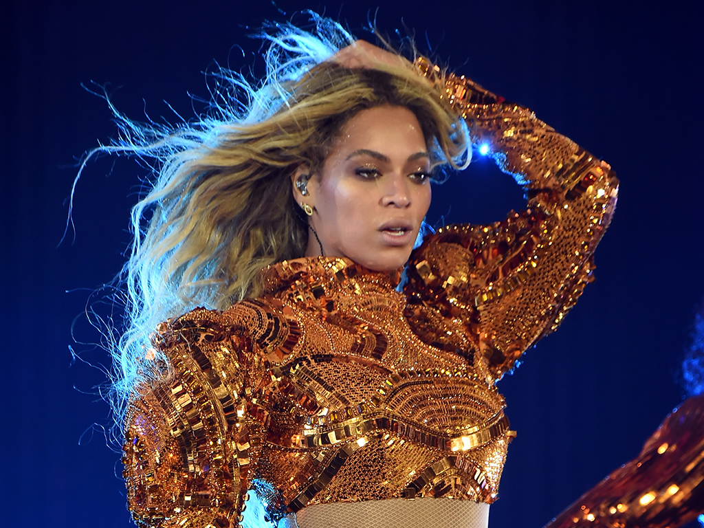 Beyonce performs onstage during the 'Formation' world tour at the Rose Bowl on May 14, 2016 in Pasadena, Calif.
