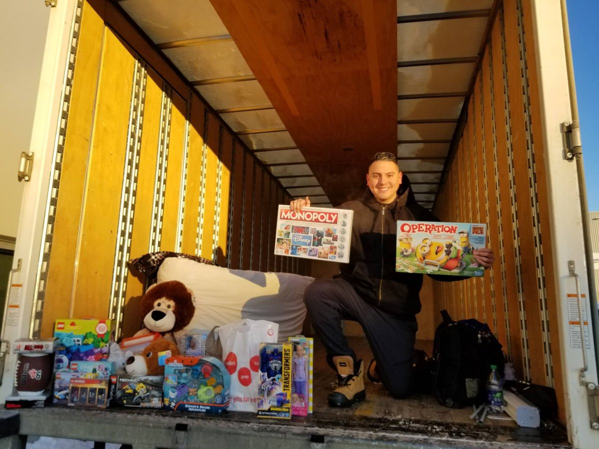 Can Man Dan (Dan Johnstone) kicks off his third campout of 2018 in support of 630 CHED Santas Anonymous.