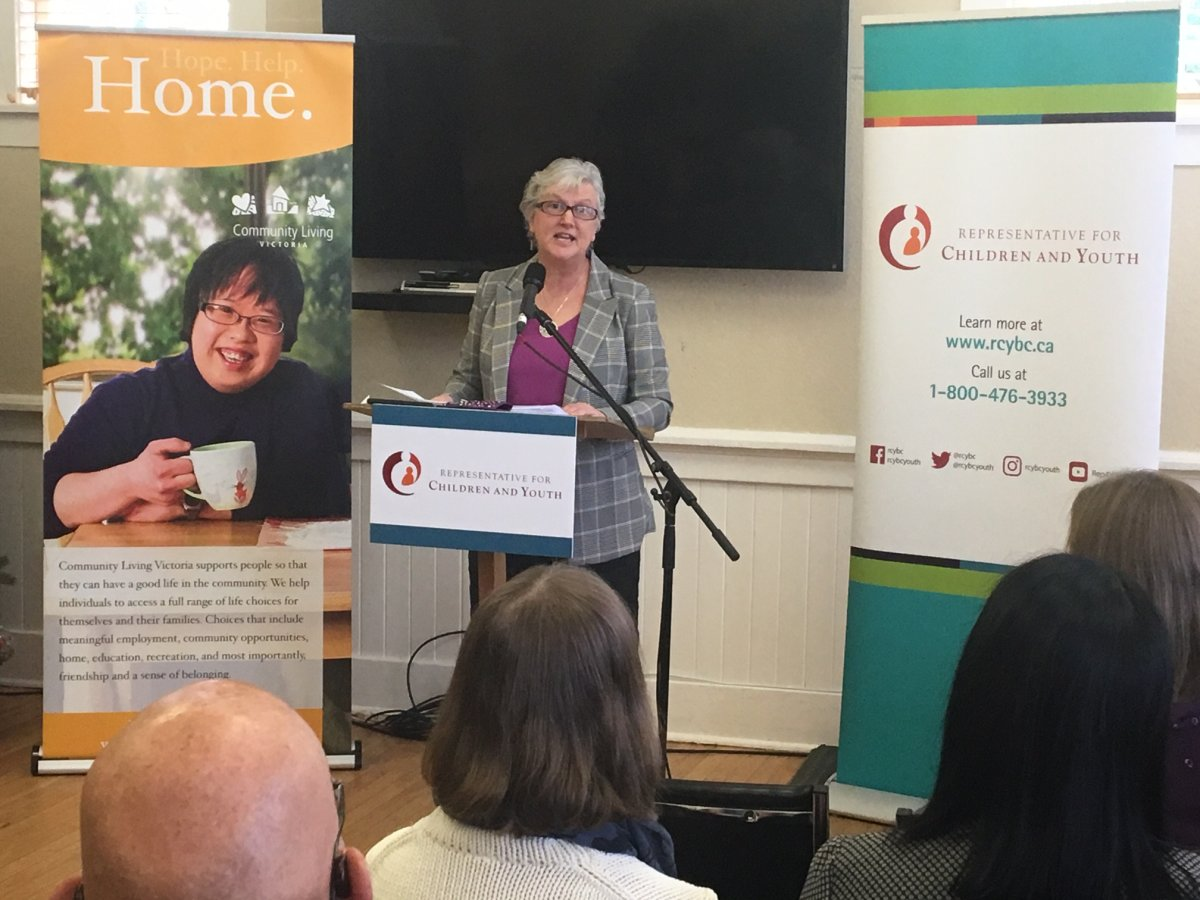 Children's Representative Jennifer Charlesworth presents 'Alone and Afraid' report in Victoria.