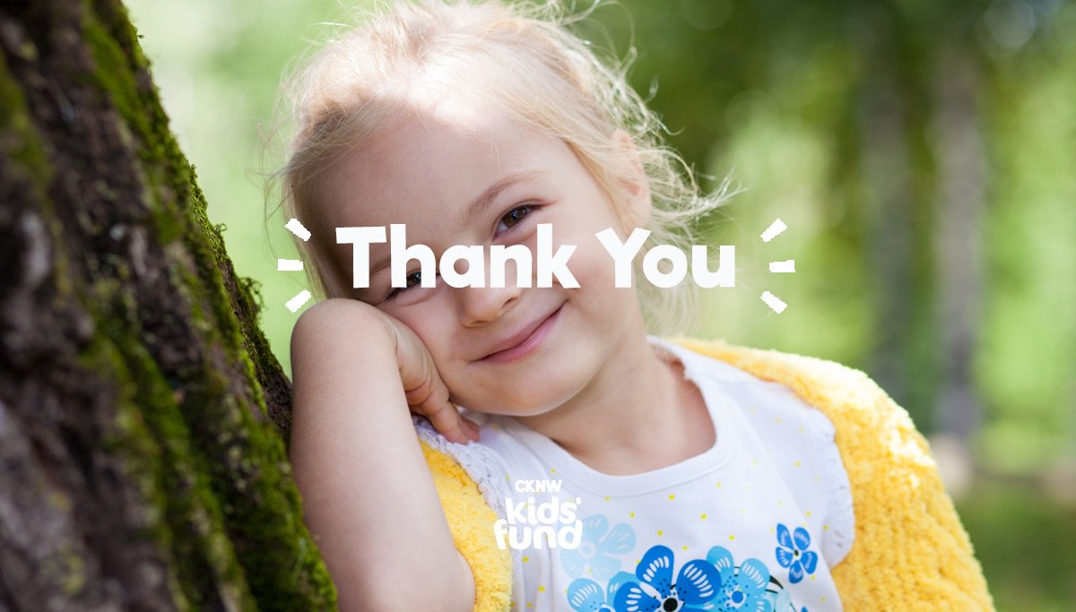 Thank you for helping the CKNW Kids' Fund raise more than $1.4 million.