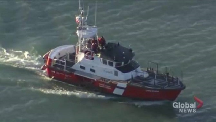 The Canadian Coast Guard and members of the Port Hardy RCMP were deployed after the boat was spotted speeding in tight circles a few kilometres off shore.