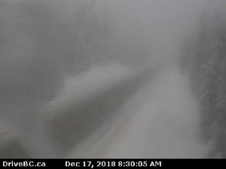Environment Canada has issued a snowfall warning of 25 to 30 centimetres for Paulson Summit to Kootenay Pass.