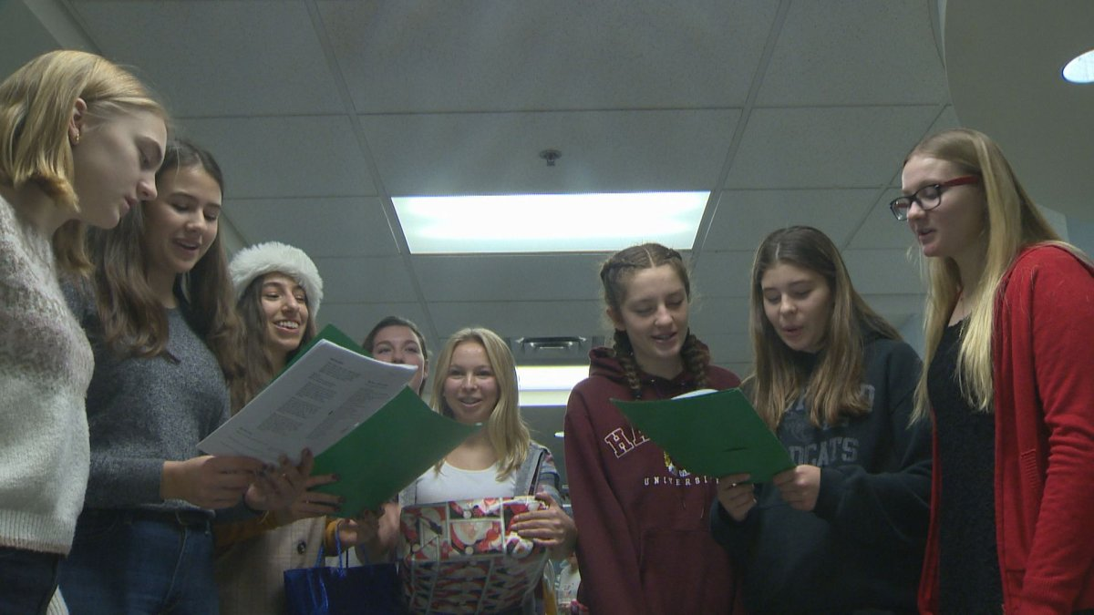 Kids from Westwood High sang Christmas carols for the fiftieth year Thursday.