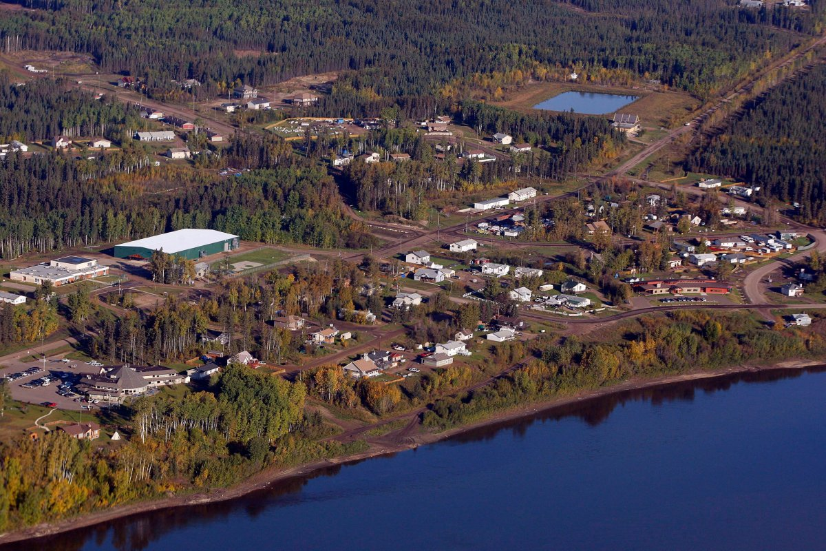 An aerial view of Fort McKay, Alta., Monday, Sept. 19, 2011.