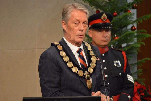 Mayor Fred Eisenberger has launched Hamilton City Council's new term by  touting his mandate  to build LRT.