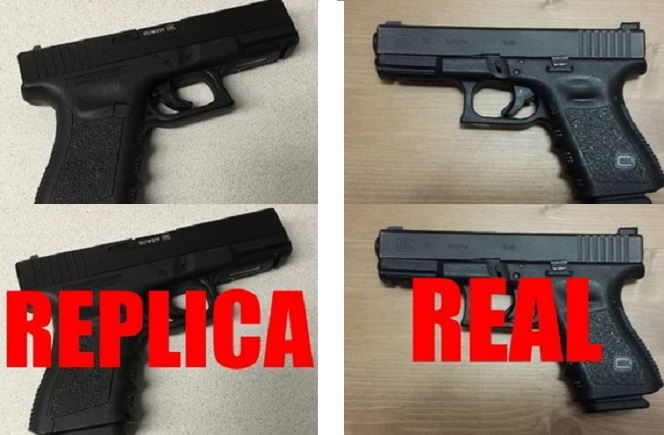 Burnaby RCMP issued a public warning after a pair of incidents involving realistic looking replica guns.
