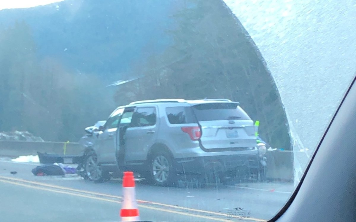 One person is dead after a fatal three-vehicle collision on the Sea to Sky Highway.