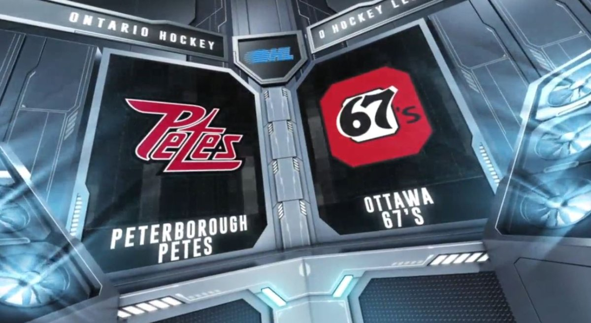 The Ottawa 67's doubled the Peterborough Petes 4-2 on Sunday afternoon in Ottawa in OHL action.