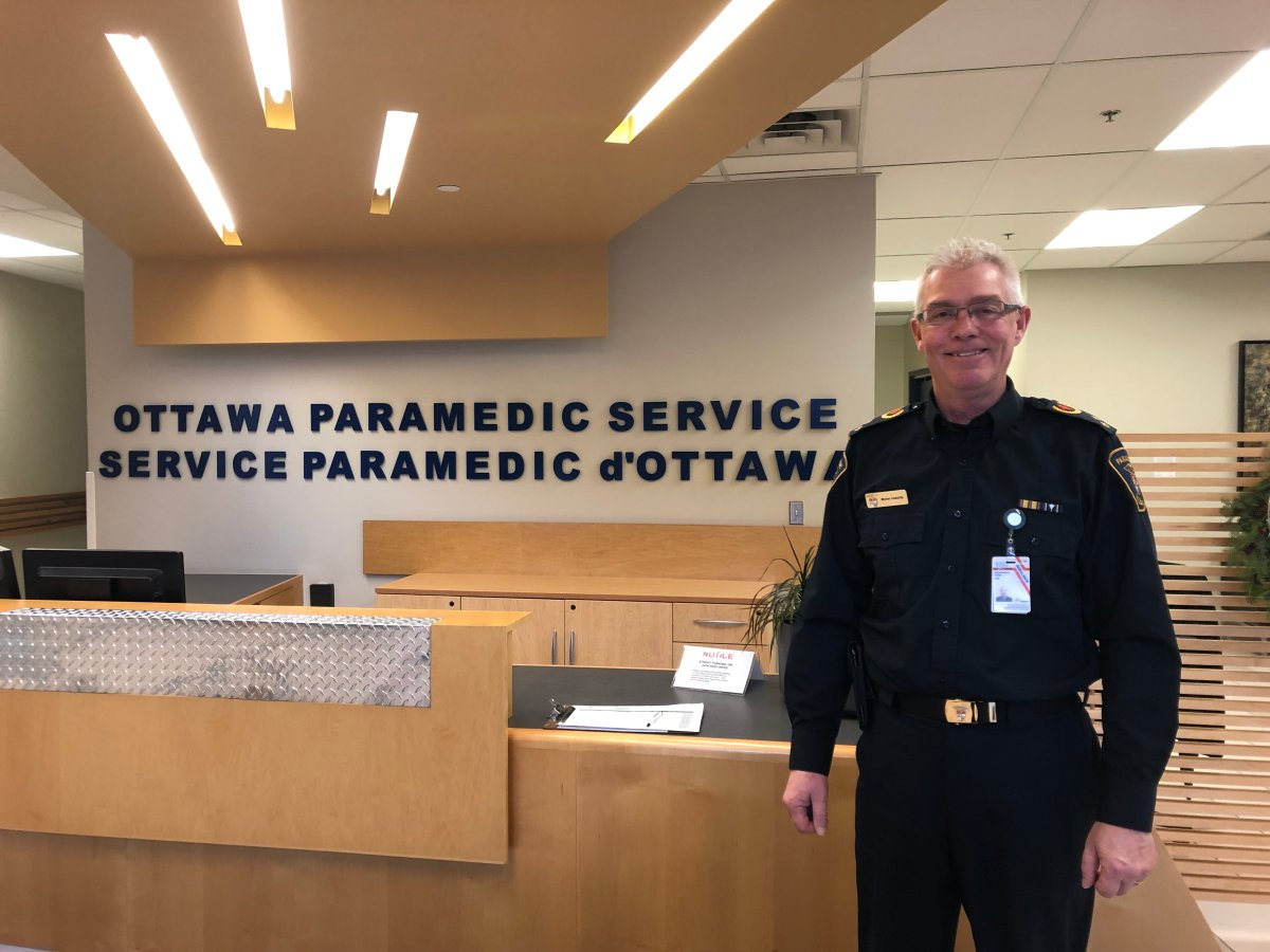 Myles Cassidy, chief of the Ottawa Paramedic Service, is pictured here at the service's headquarters at 2495 Don Reid Dr. on Dec. 19, 2018.