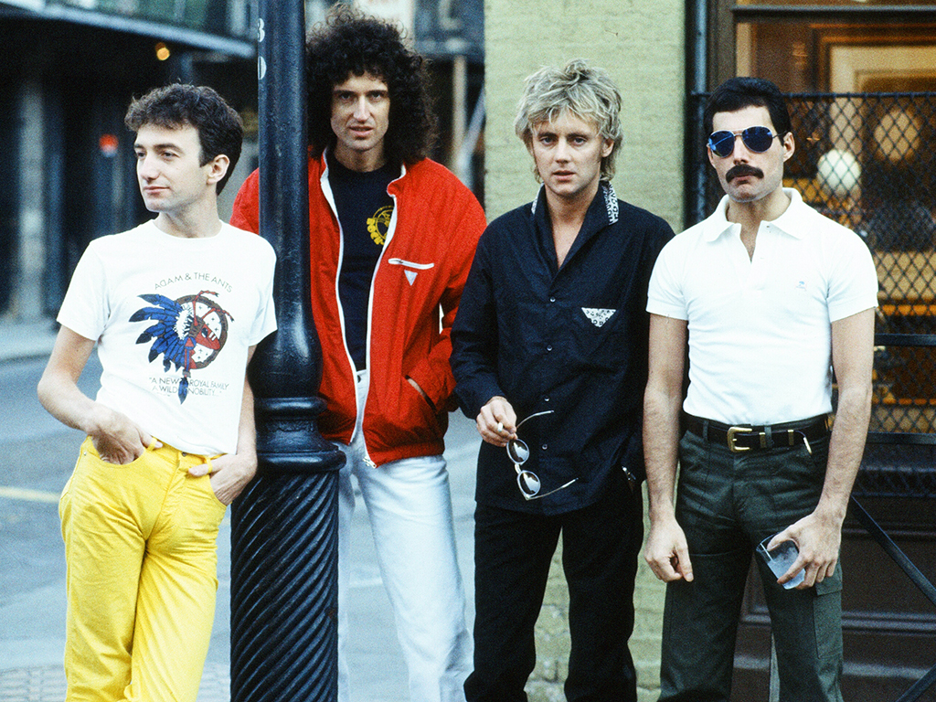 Queen (L-R) — John Deacon, Brian May, Roger Taylor and Freddie Mercury seen in New Orleans, La. Sept. 21, 1981.