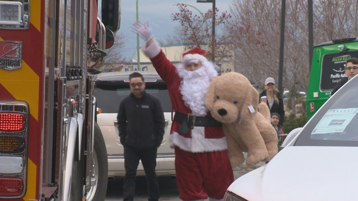 Santa was on hand at August Luxury Motorcars on Sunday to help with their annual toy drive.