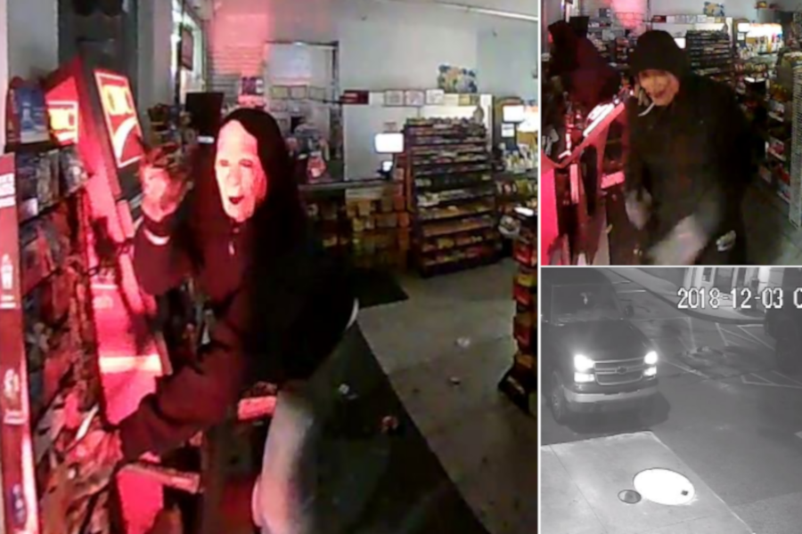 Police released several images from Monday's incident.