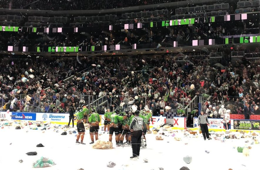 630 CHED Santas Anonymous Teddy Bear Toss. December 8, 2018.