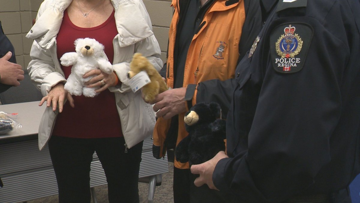 The Regina Police Service will now be carrying Teddy Bears Anonymous bears in their squad cars.