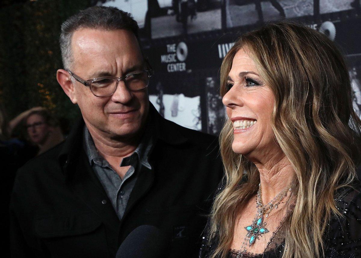 Tom Hanks and Rita Wilson at the Dorothy Chandler Pavilion on Nov. 7, 2018 in Los Angeles, Calif.