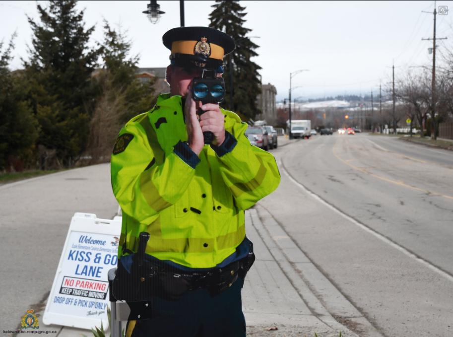 """""""Const. Warren Ning"""" is hitting the streets in an effort to slow down speeders in Kelowna school zones."""