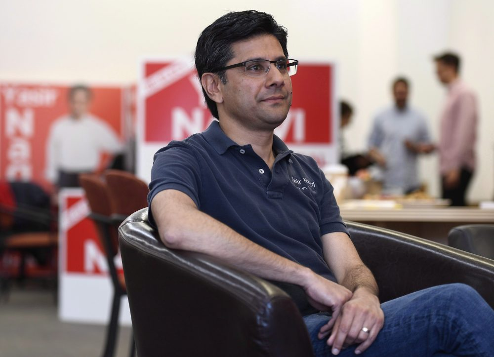 Ottawa Centre Liberal candidate Yasir Naqvi is photographed in his campaign office in Ottawa on Thursday, May 24, 2018. Naqvi, who was defeated in the 2018 Ontario election, was announced as the new CEO of the Toronto-based Institute for Canadian Citizenship on Jan. 23, 2019.