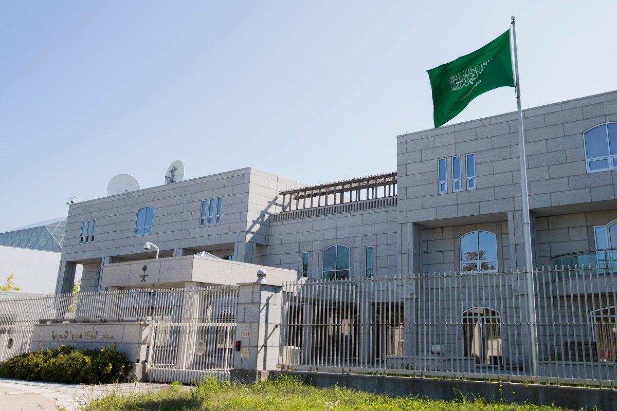 The Saudi embassy in Ottawa, Ont., on Thursday, Aug. 23, 2018.