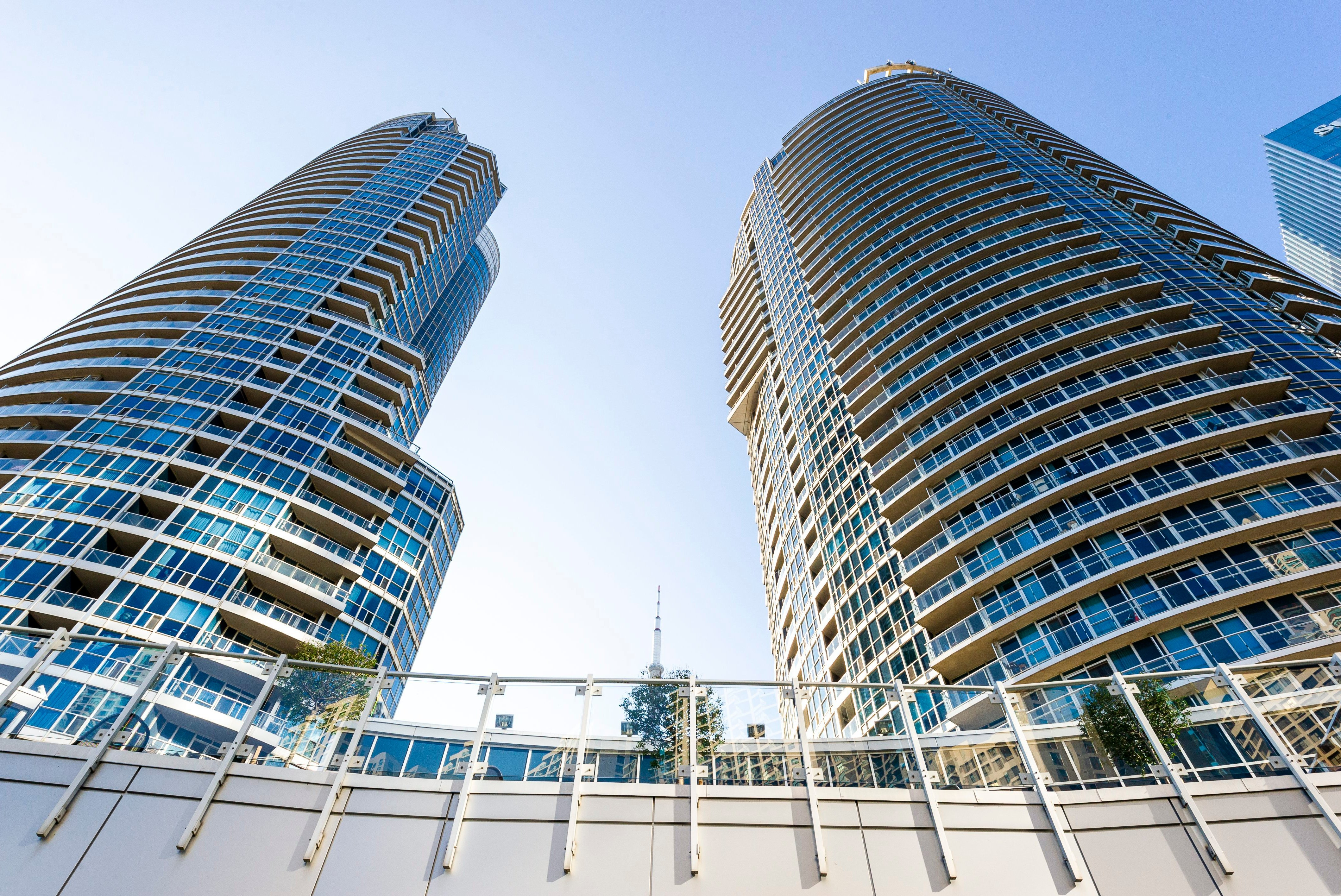 A general view of the Waterclub Condominium in the Toronto Waterfront area on August 31, 2018.