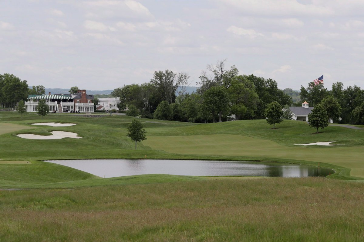 This May 24, 2017 file photo shows a view of Trump National Golf Club in Bedminster, N.J.