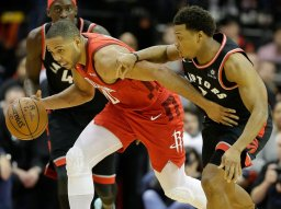 Continue reading: James Harden scores 35 in Houston Rockets' 121-119 win over Toronto Raptors