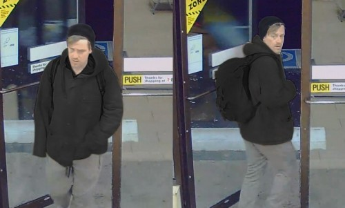 Hamilton Police say the man's image was captured on a store camera and in order to further the investigation, police are looking to identify him..